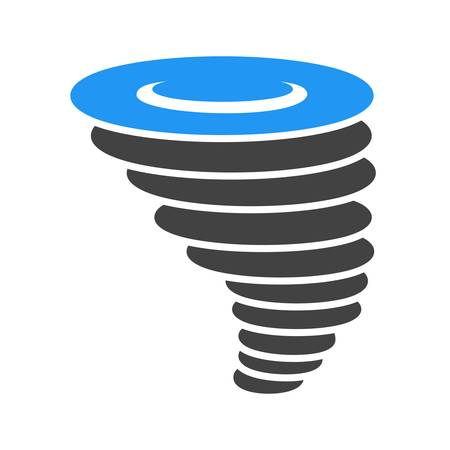 Cyclone, tornado, hurricane, typhoon icon vector image. Can also be used for weather, forecast, season, climate, meteorology. Suitable for web apps, mobile apps and print media.
