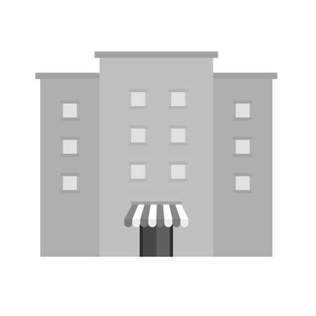 office building: Shopping mall, store, shop, building icon vector image. Can also be used for ecommerce, shopping, business. Suitable for web apps, mobile apps and print media.