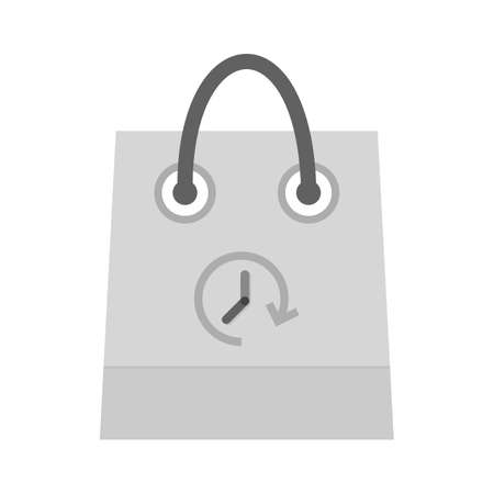 Shopping, bag, hand carry, limited time offer icon vector image. Can also be used for ecommerce, shopping, business. Suitable for web apps, mobile apps and print media. Illustration