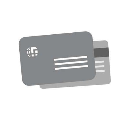 Card credit, debit card, visa card icon vector image. Can also be used for ecommerce, shopping, business. Suitable for web apps, mobile apps and print media. Çizim