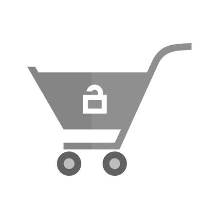 Cart, trolley, unlocked, basket icon vector image. Can also be used for ecommerce, shopping, business. Suitable for web apps, mobile apps and print media.