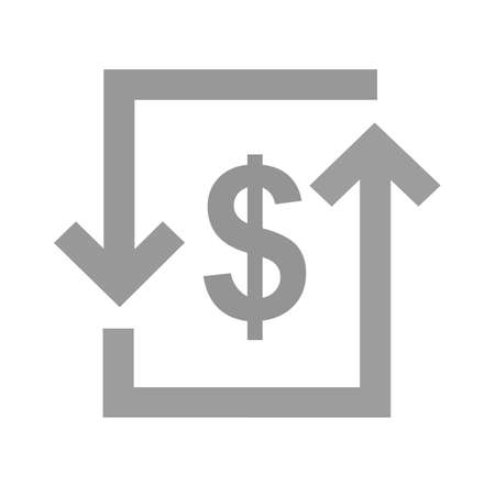 bill of exchange: Transaction, dollar, bill, exchange icon vector image. Can also be used for ecommerce, shopping, business. Suitable for web apps, mobile apps and print media.