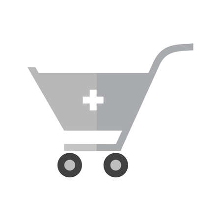 Cart, trolley, basket icon vector image. Can also be used for ecommerce, shopping, business. Suitable for web apps, mobile apps and print media. Illustration