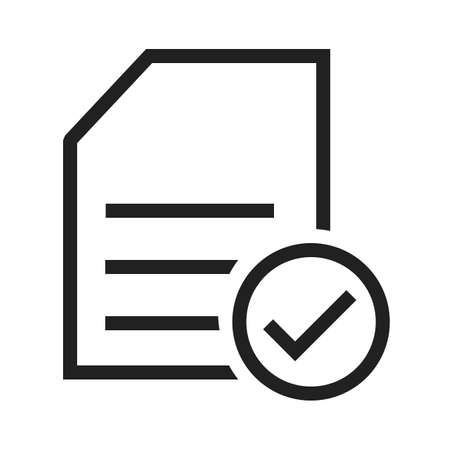 procure: Checklist, items, task, list, document icon vector image. Can also be used for ecommerce, shopping, business. Suitable for web apps, mobile apps and print media. Illustration