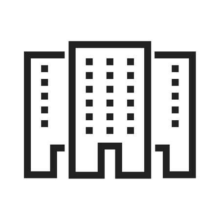 locales comerciales: Alameda de compras, tienda, imagen del icono del vector de construcción. También se puede utilizar para el comercio electrónico, compras, negocios. Adecuado para aplicaciones web, aplicaciones móviles y los medios impresos.