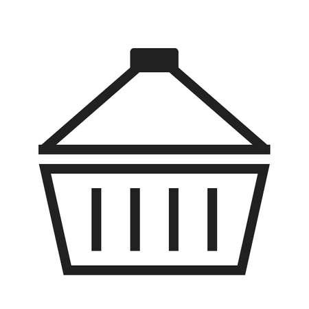 바구니, 수행, 손, 장바구니 아이콘 벡터 이미지. 전자 상거래, 쇼핑, 비즈니스에도 사용할 수 있습니다. 웹 앱, 모바일 앱 및 인쇄 매체에 적합합니다.