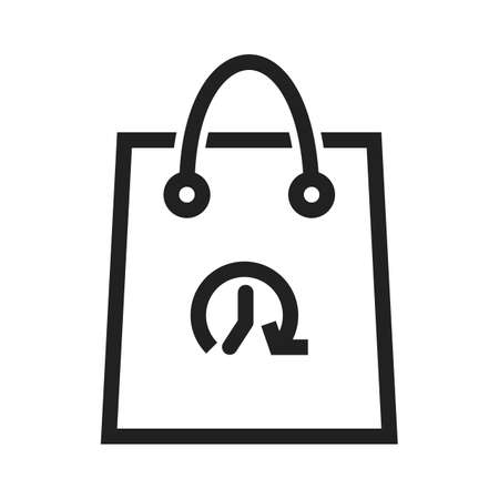 Shopping, bag, hand carry, limited time offer icon vector image. Can also be used for ecommerce, shopping, business. Suitable for web apps, mobile apps and print media. 일러스트