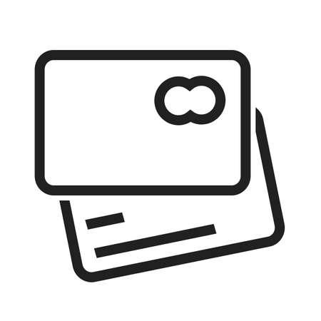 クレジット カード、デビット カード、visa カードのアイコン ベクトル画像。ショッピング、ビジネス、e コマースにも使用できます。Web アプリ、携  イラスト・ベクター素材