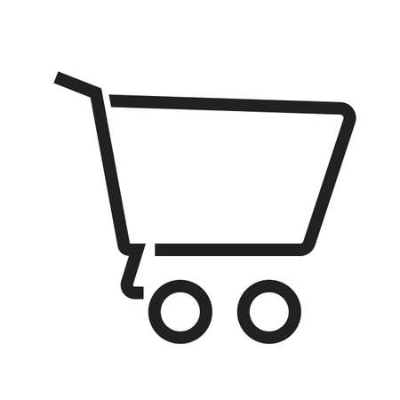 Cart, empty, trolley, basket icon vector image. Can also be used for ecommerce, shopping, business. Suitable for web apps, mobile apps and print media. Illustration