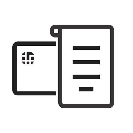 Receipt, invoice, bill icon vector image. Can also be used for ecommerce, shopping, business. Suitable for web apps, mobile apps and print media.