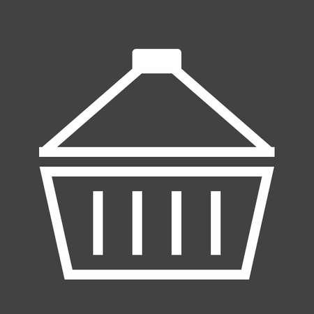 hand cart: Cesta, llevar, mano, imagen cart icon vector. Tambi�n se puede utilizar para el comercio electr�nico, compras, negocios. Adecuado para aplicaciones web, aplicaciones m�viles y los medios impresos.