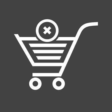 Cancelled, crossed, cart, trolley icon vector image. Can also be used for eCommerce, shopping, business. Suitable for web apps, mobile apps and print media. Imagens - 38463946
