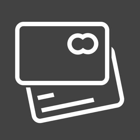 visa credit card: Card credit, debit card, visa card icon vector image. Can also be used for eCommerce, shopping, business. Suitable for web apps, mobile apps and print media. Illustration