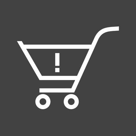 Alert, warning cart, trolley icon vector image. Can also be used for eCommerce, shopping, business. Suitable for web apps, mobile apps and print media. Illustration