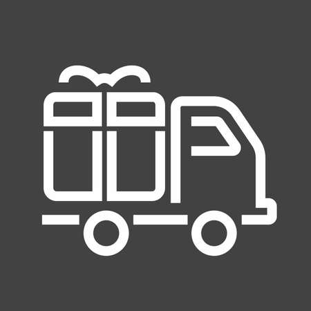 Truck, transport, service, delivery icon vector image. Can also be used for eCommerce, shopping, business. Suitable for web apps, mobile apps and print media. Stock Vector - 38464155