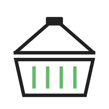 hand cart: Basket, carry, hand, cart icon vector image. Can also be used for eCommerce, shopping, business. Suitable for web apps, mobile apps and print media.