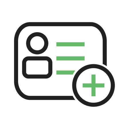personalausweis: Mitgliedschaft, Karte, Namensschild, Personalausweis-Symbol Vektor-Bild. Kann auch für E-Commerce, Einkaufen, Geschäft verwendet werden. Geeignet für Web-Anwendungen, mobile Anwendungen und Printmedien.