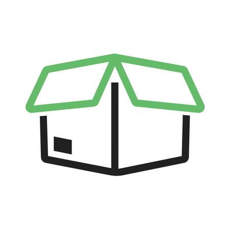 Pacchetto, pacchetto, regalo, icona della casella di immagine vettoriale. Può essere utilizzato anche per il commercio elettronico, shopping, affari. Adatto per applicazioni web, applicazioni mobili e supporti di stampa. Archivio Fotografico - 38549166