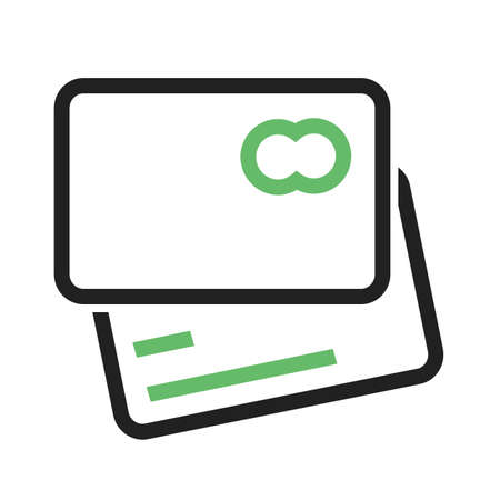 Card credit, debit card, visa card icon vector image. Can also be used for eCommerce, shopping, business. Suitable for web apps, mobile apps and print media. 向量圖像