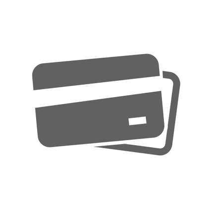 tarjeta visa: Tarjeta de crédito, tarjeta de débito, tarjeta visa imagen del icono del vector. También se puede utilizar para el comercio electrónico, compras, negocios. Adecuado para aplicaciones web, aplicaciones móviles y los medios impresos.