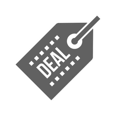 Tag, deal, offer, label icon vector image. Can also be used for eCommerce, shopping, business. Suitable for web apps, mobile apps and print media.