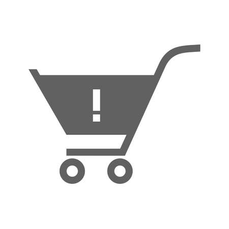 be alert: Alert, warning cart, trolley icon vector image. Can also be used for eCommerce, shopping, business. Suitable for web apps, mobile apps and print media. Illustration
