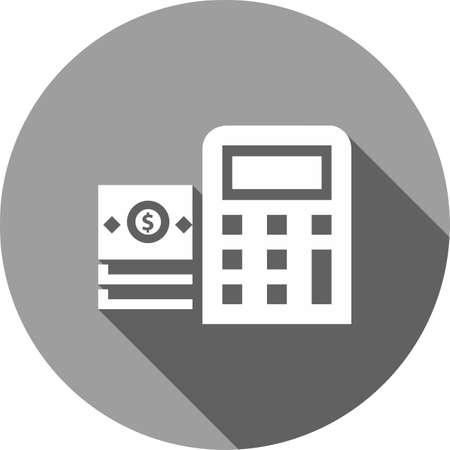 Dollar, rekening, rekenmachine, afbeelding berekening icoon. Stock Illustratie