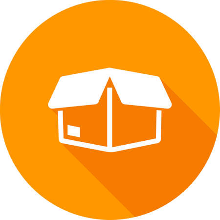 shipped: Package, parcel, gift, box icon image.