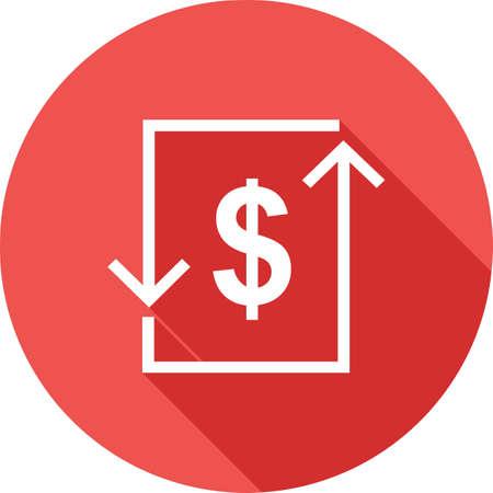 bill of exchange: Transaction, dollar, bill, exchange icon image.