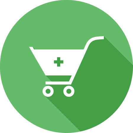 Cart, trolley, basket icon image.  Illustration