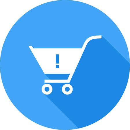 alerts: Alert, warning cart, trolley icon image.