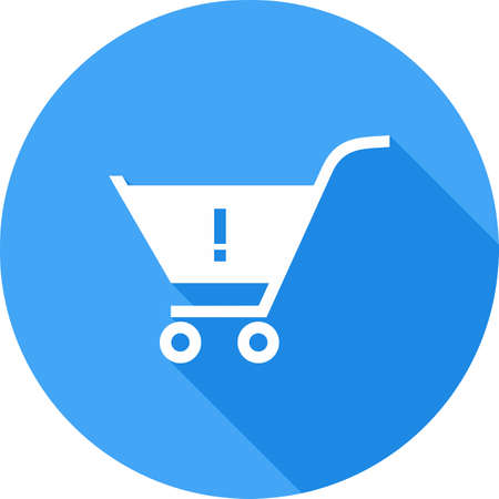 Alert, warning cart, trolley icon image.