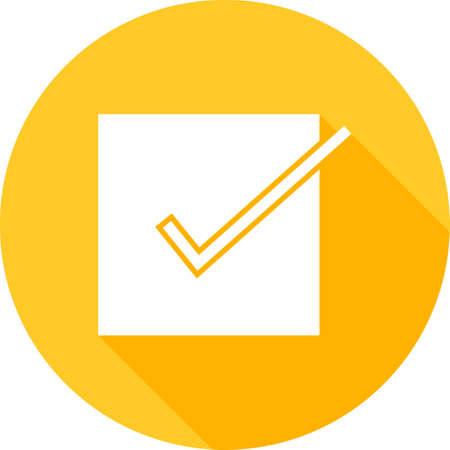 tick mark: Lista de verificaci�n, marca de la se�al, la imagen del icono del vector documento. Tambi�n se puede utilizar para el comercio electr�nico, compras, negocios. Adecuado para aplicaciones web, aplicaciones m�viles y los medios impresos.