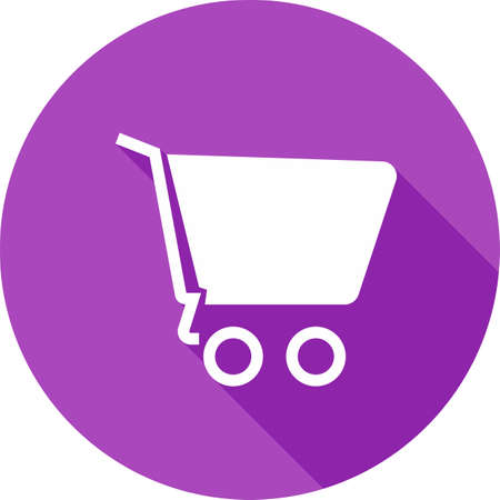 Cart, empty, trolley, basket icon image.  Illustration