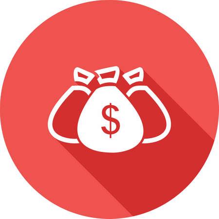 sack: Money, bag, cash, sack icon image.