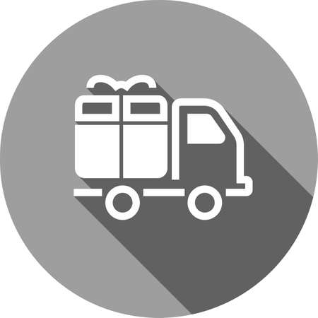 Truck, transport, service, delivery icon image Illustration