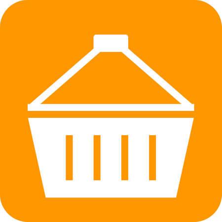hand cart: Basket, carry, hand, cart icon image.  Illustration