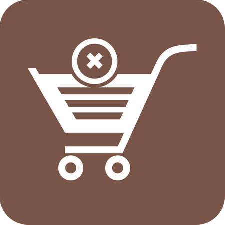 Cancelled, crossed, cart, trolley icon vector image. Can also be used for eCommerce, shopping, business. Suitable for web apps, mobile apps and print media. Imagens - 38621565