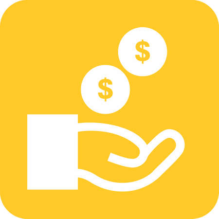 financial statement: Cash, dollar, cents, funding icon image.
