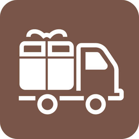 Truck, transport, service, delivery icon image.