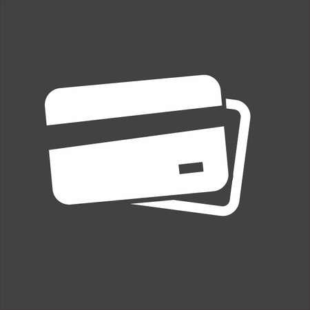 Card credit, debit card, visa card icon image.