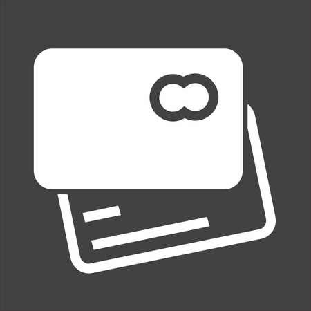 카드 신용, 직불 카드, 비자 카드 아이콘 벡터 이미지. 또한 전자 상거래, 쇼핑, 비즈니스에 사용할 수 있습니다. 웹 앱, 모바일 앱 및 인쇄 매체에 적합