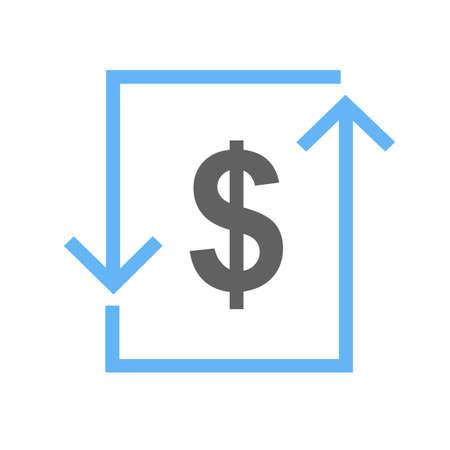 letra de cambio: Transacci�n, d�lar, cuenta, icono de cambio de imagen vectorial. Tambi�n se puede utilizar para el comercio electr�nico, compras, negocios. Adecuado para aplicaciones web, aplicaciones m�viles y los medios impresos.
