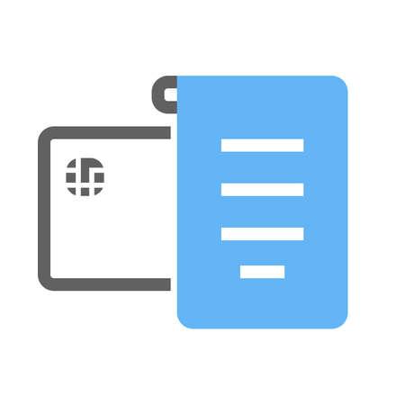 receipt: Receipt, invoice, bill icon image.