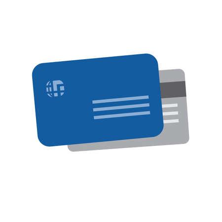 카드 신용, 직불 카드, 비자 카드 아이콘 벡터 이미지. 전자 상거래, 쇼핑, 비즈니스에도 사용할 수 있습니다. 웹 앱, 모바일 앱 및 인쇄 매체에 적합합