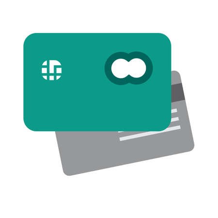 Card credit, debit card, visa card icon vector image. Can also be used for eCommerce, shopping, business. Suitable for web apps, mobile apps and print media. Illusztráció