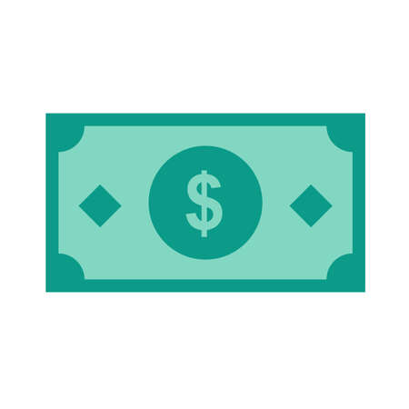 Dollar, bill, money, cash icon vector image. Can also be used for eCommerce, shopping, business. Suitable for web apps, mobile apps and print media.  イラスト・ベクター素材