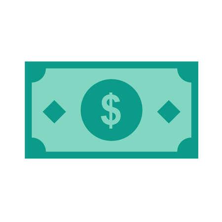 Dollar, projet de loi, l'argent, image vectorielle trésorerie icône. Peut aussi être utilisé pour le commerce électronique, le shopping, les affaires. Convient pour les applications Web, des applications mobiles et les médias d'impression. Banque d'images - 38680446