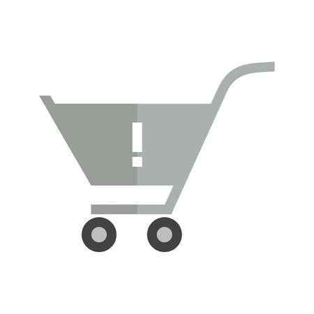 alerts: Alert, warning cart, trolley icon vector image. Can also be used for eCommerce, shopping, business. Suitable for web apps, mobile apps and print media. Illustration