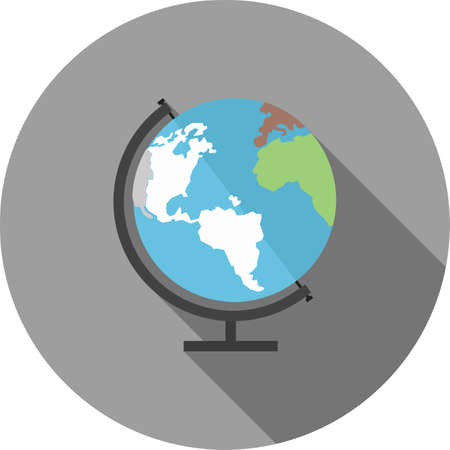 Globe earth world map icon image ilustraciones vectoriales clip globe earth world map icon vector image can also be used for gumiabroncs Image collections